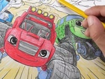 Replay 1, 2, 3... Coloriage ! | Blaze et les Monster Machines | Course Endiablée | Episode entier