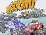 Replay 1, 2, 3... Coloriage ! | Blaze et les Monster Machines | Vroom vroom | Episode entier