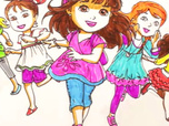 Replay 1, 2, 3... Coloriage ! | Dora & Friends | Course entre amies | Episode entier