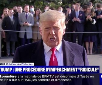 Replay BFM story - Story 1 : Donald Trump estime que la procédure d'impeachment est ridicule - 12/01
